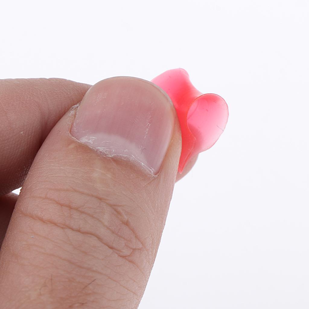 10pcs-silicone-molle-solido-doppio-spine-svasate-calibro-dell-039-orecchio-che miniatura 3