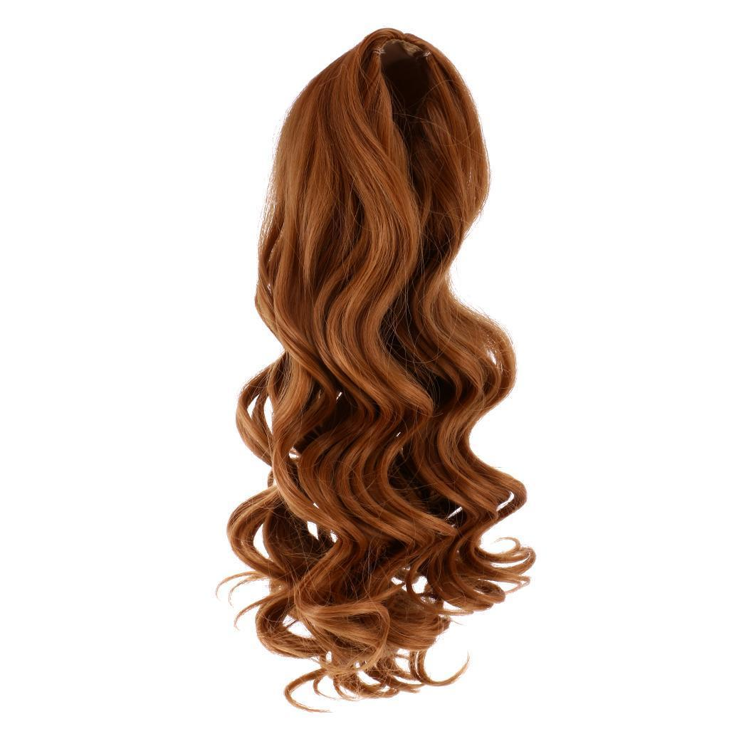 Straight-Gradient-Curly-Hair-Wig-for-18-039-039-Doll-Dress-up-Accessory thumbnail 24