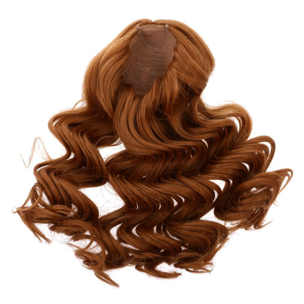 Straight-Wavy-Curly-Hair-Wig-for-18-039-039-Dolls-Clothes-Accessories thumbnail 22