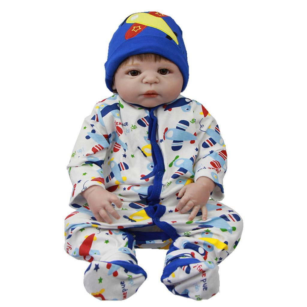 Lifelike Baby Dolls Romper Clothes Headdress for 22''-23 ...