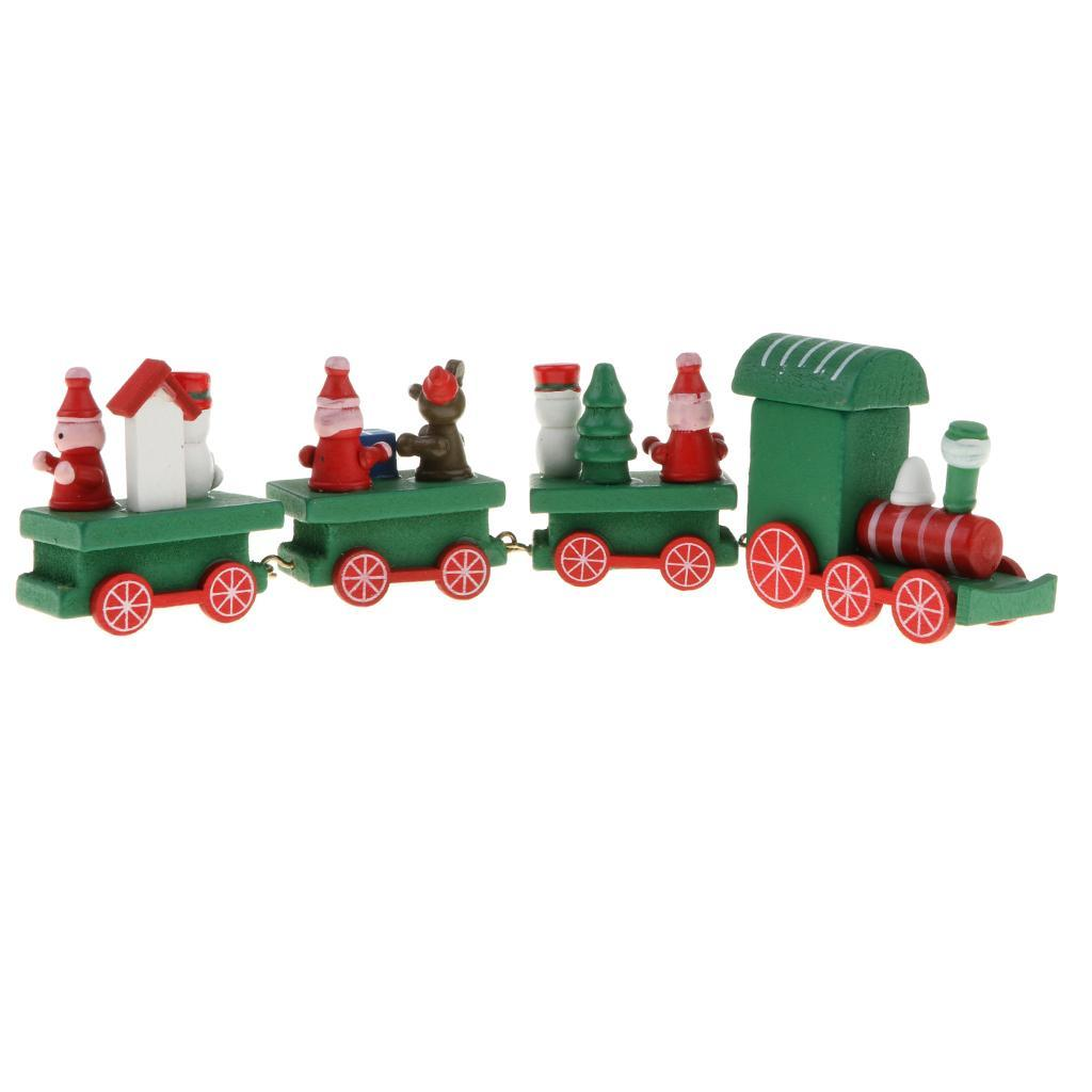 Wooden Christmas Locomotive Steam Train Toy Set for Kids ...