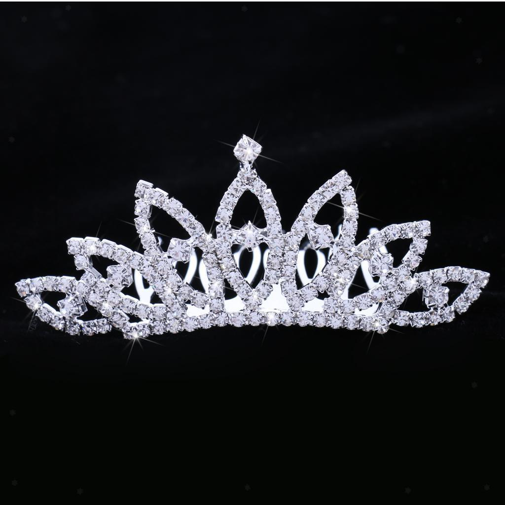 Crystal-Mini-Crown-Tiara-Girls-Woman-Fancy-Dress-Hair-Comb-Wedding-Party-Gift thumbnail 8