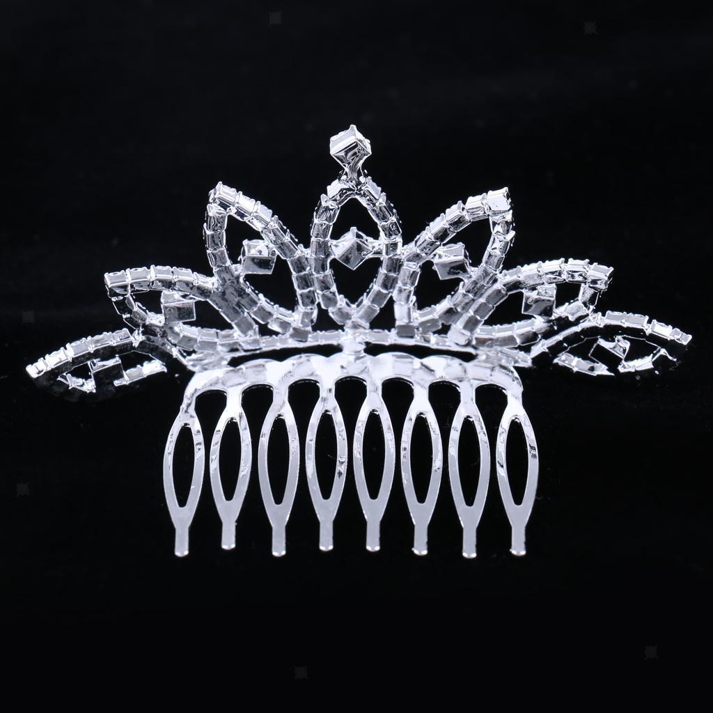 Princess-Crystal-Mini-Hair-Crown-Tiara-Hair-Comb-Girls-Woman-Wedding-Party-Gift thumbnail 20