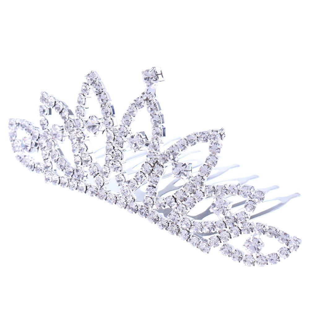 Princess-Crystal-Mini-Hair-Crown-Tiara-Hair-Comb-Girls-Woman-Wedding-Party-Gift thumbnail 21
