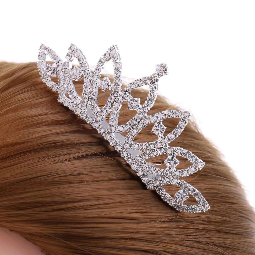 Princess-Crystal-Mini-Hair-Crown-Tiara-Hair-Comb-Girls-Woman-Wedding-Party-Gift thumbnail 22
