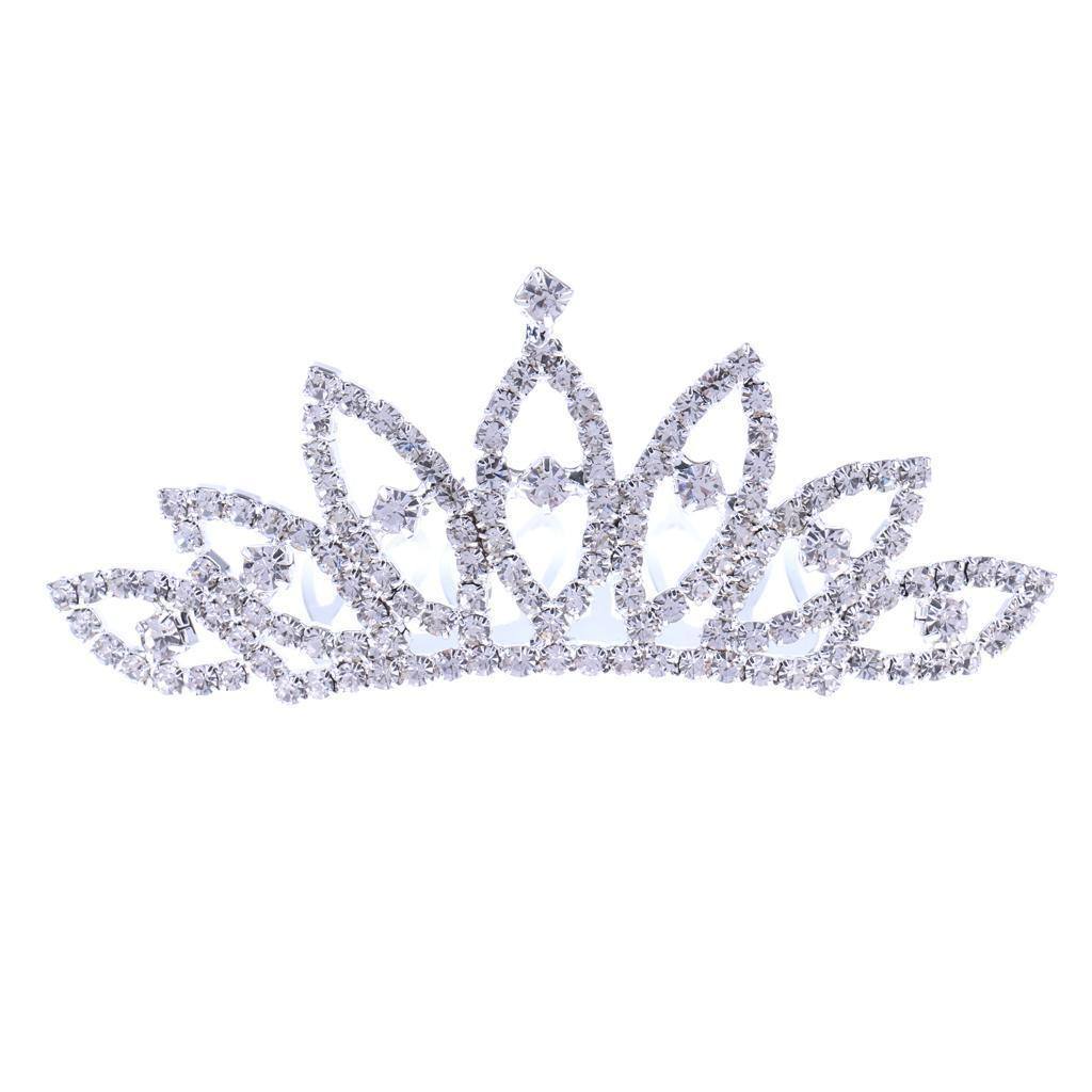 Princess-Crystal-Mini-Hair-Crown-Tiara-Hair-Comb-Girls-Woman-Wedding-Party-Gift thumbnail 18