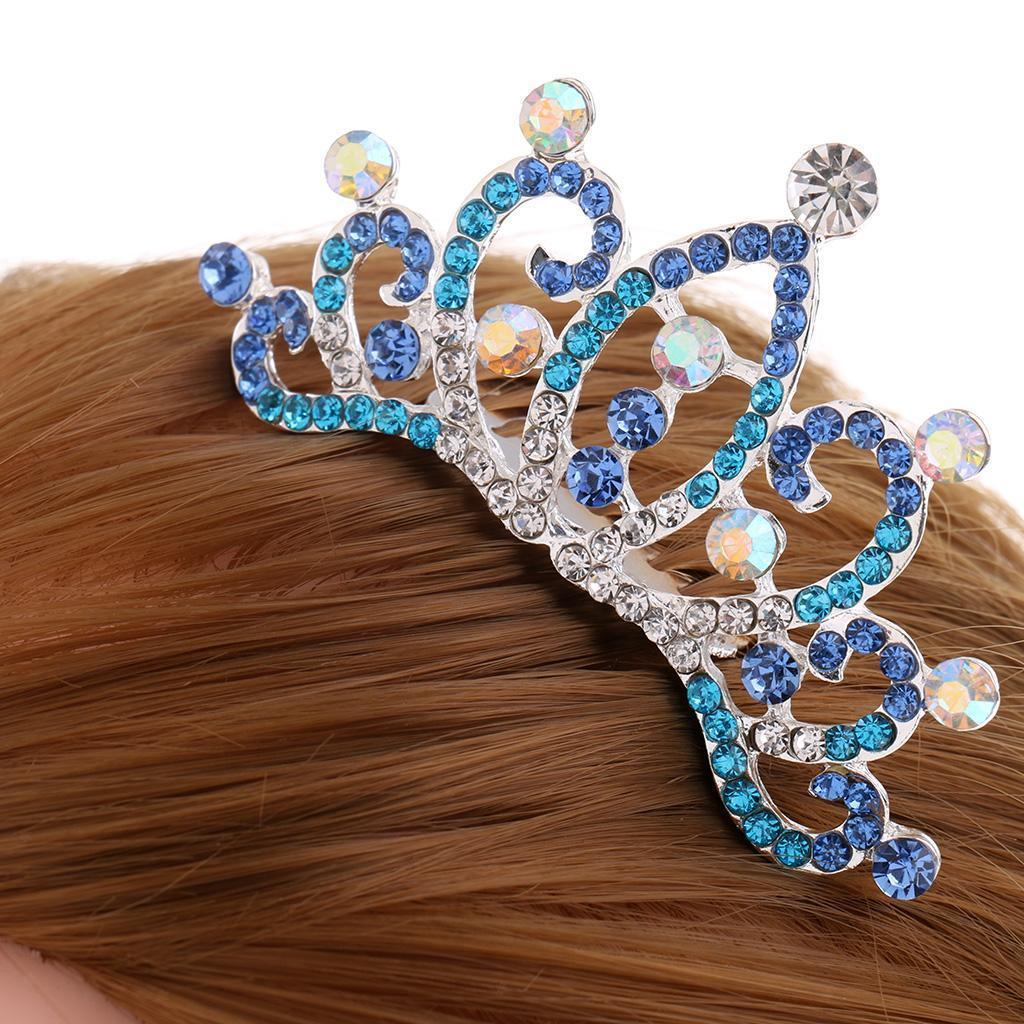 Crystal-Mini-Crown-Tiara-Girls-Woman-Fancy-Dress-Hair-Comb-Wedding-Party-Gift thumbnail 13
