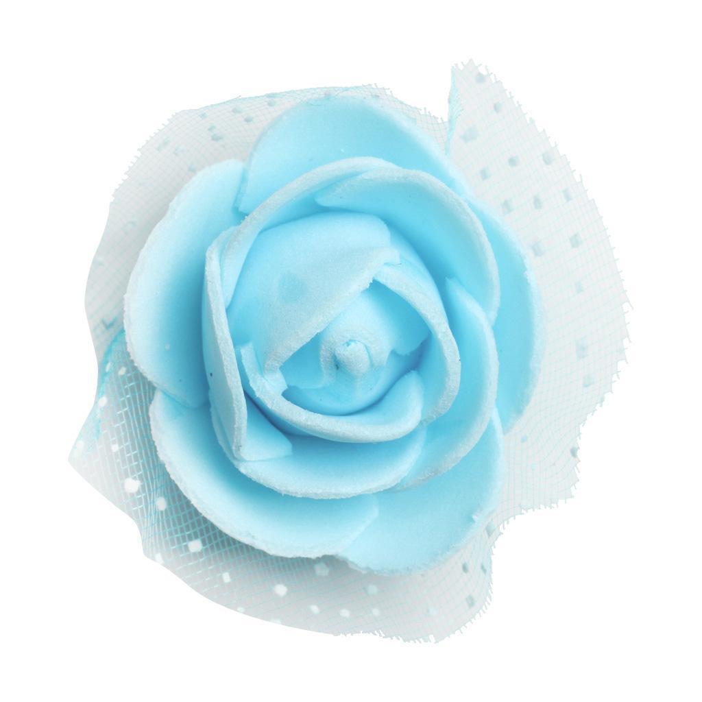 100-Pieces-Romantique-Mousse-Artificielle-Rose-Tete-Fleurs-De-Mariage miniature 28