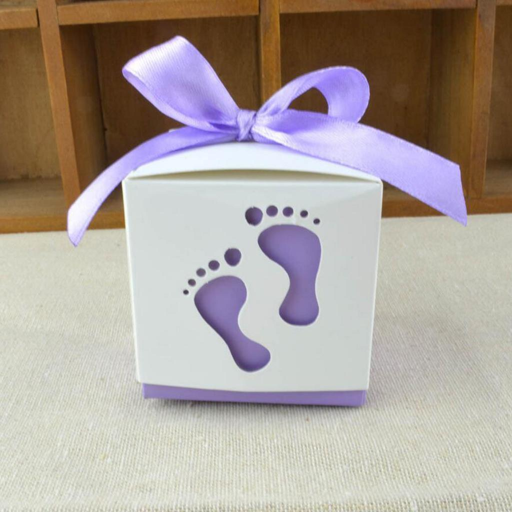 50pcs-Cute-Baby-Footprints-Square-Candy-Boxes-Baby-Shower-Birthday-Gift-Favor thumbnail 10