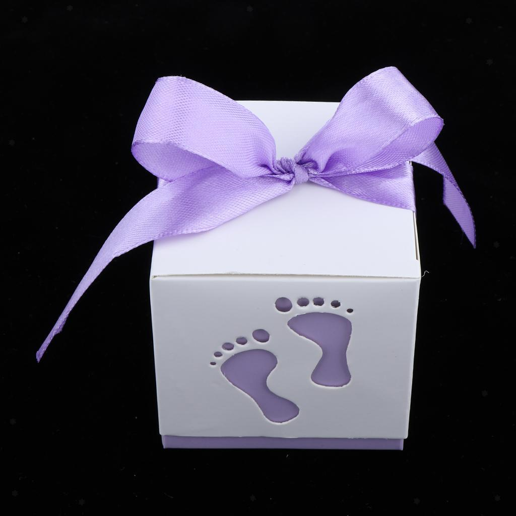 50pcs-Newborn-Baby-Footprints-Candy-Boxes-Baby-Shower-Christening-Party-Favor thumbnail 9