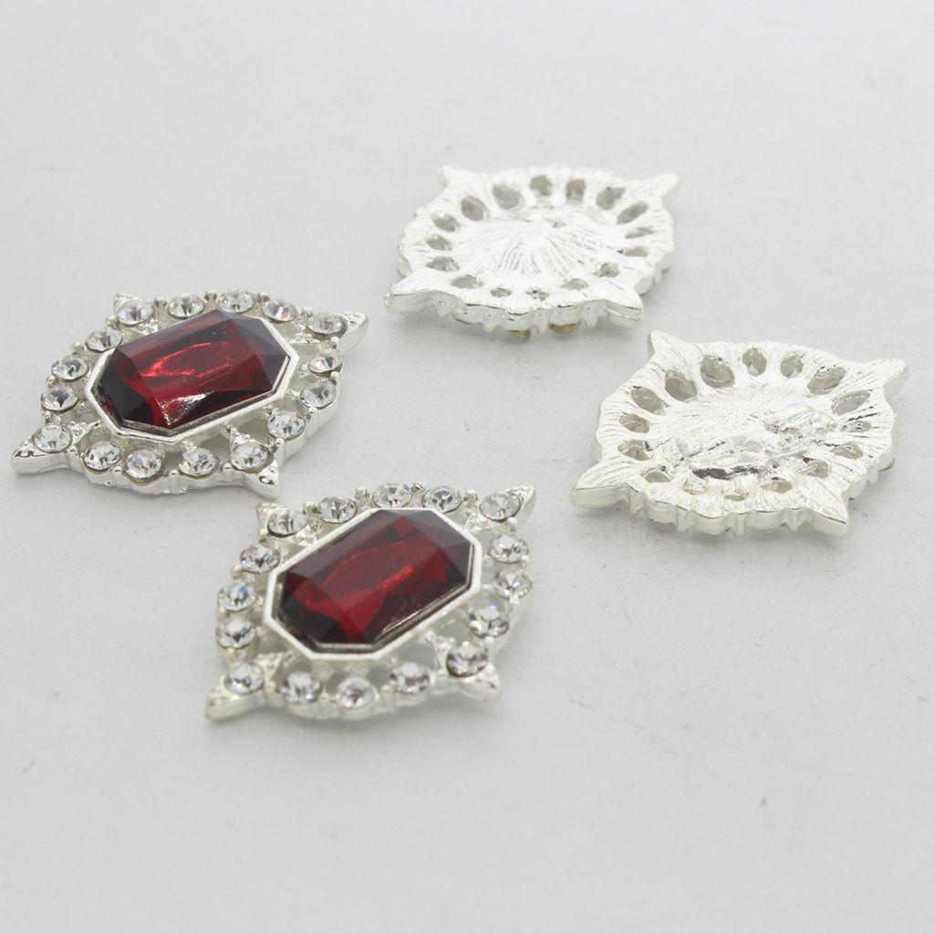 5-Pieces-Acrylique-plat-soutenu-Strass-Cabochons-Bijoux-Decoration miniature 32