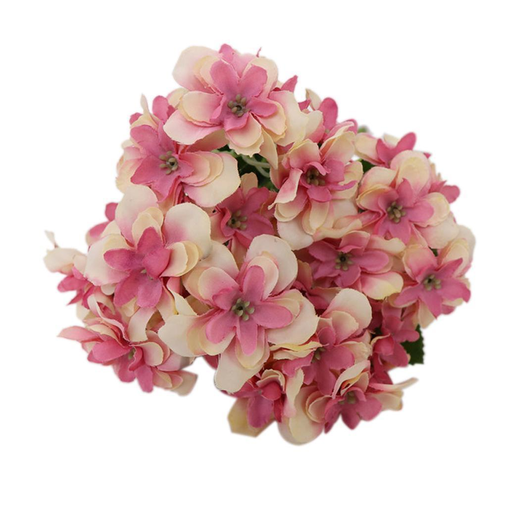 5 Colors Hydrangeas Real Touch LFlowers Artificial Wedding Flowers ...