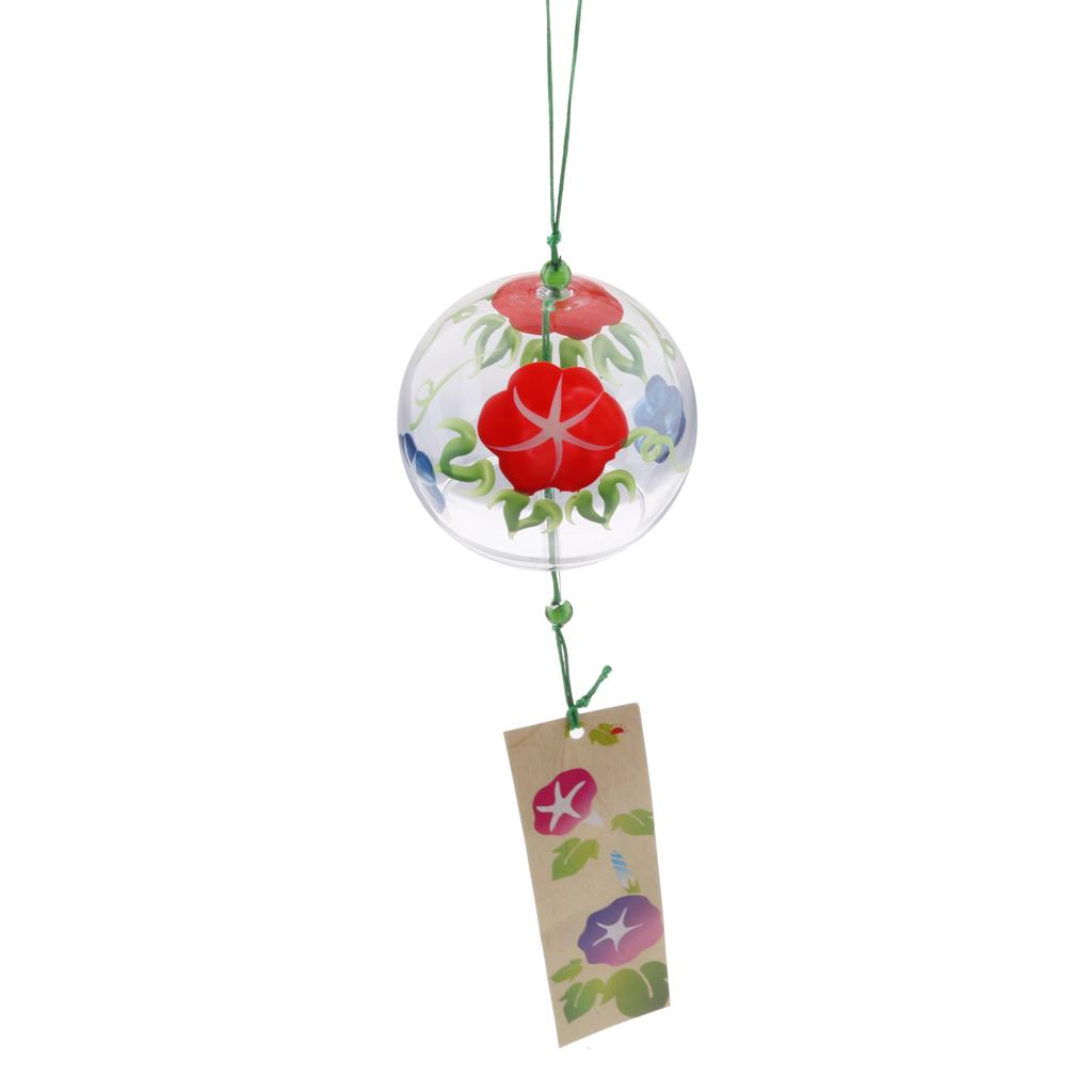 Japanese Windchime Glass Wind Chime Hanging Ornament Car Decor Sunflower
