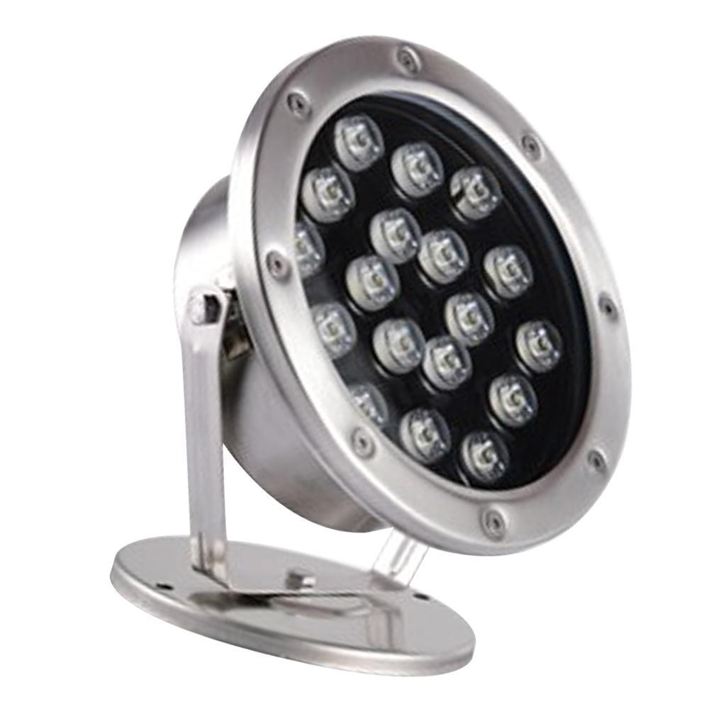 miniatura 19 - Lampada Illuminazione Subacquea LED Luce Fontane Stagni Lega Alluminio 18W