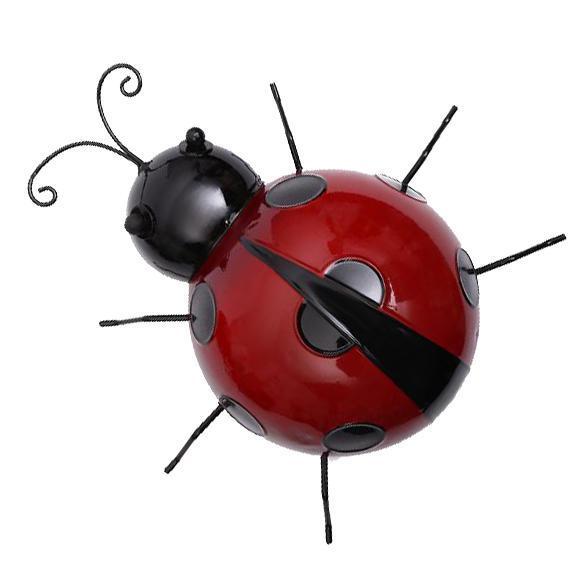 Metal-Ladybug-Garden-Decoration-Wall-Hanging-Sculpture-Figure-Hanger-Decor thumbnail 9