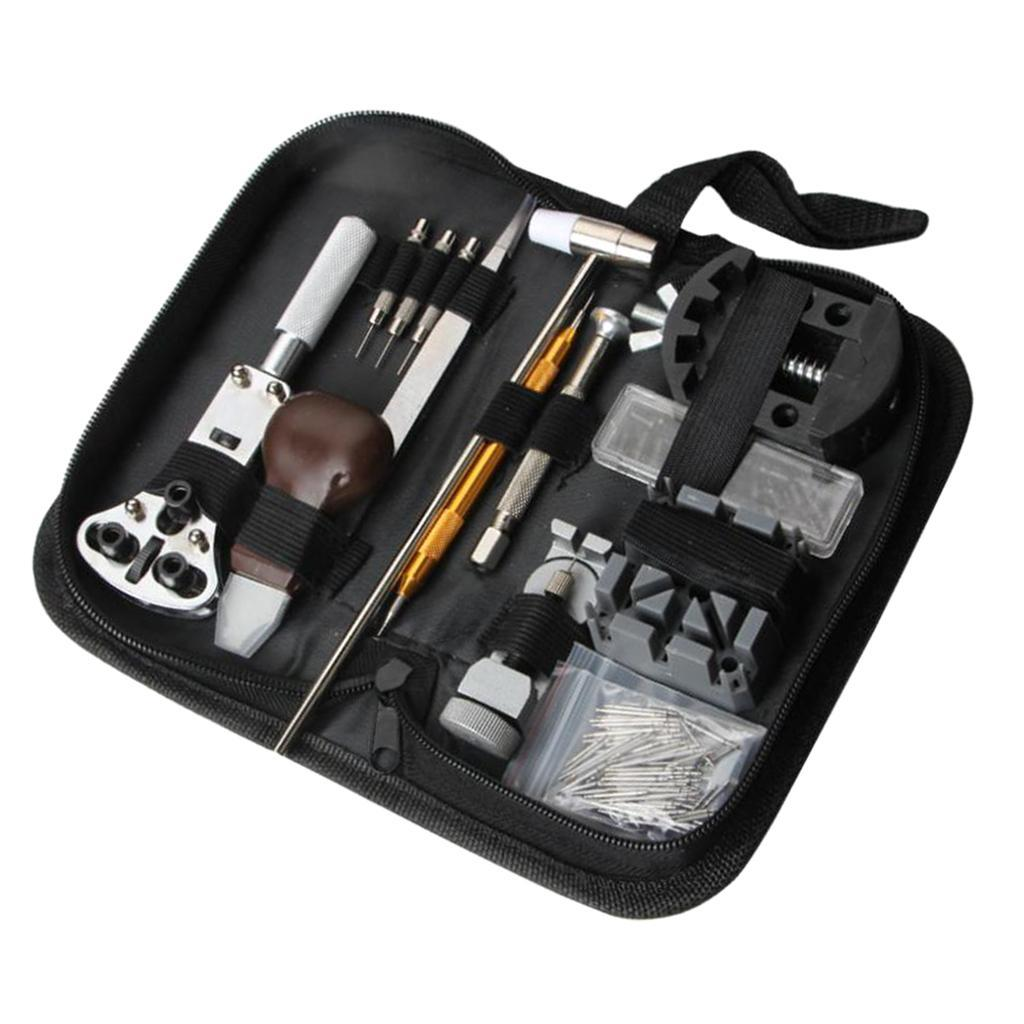 136pcs Watch Back Cover Case Opener Remover Battery Change Watchmaker Repair Tool Kit