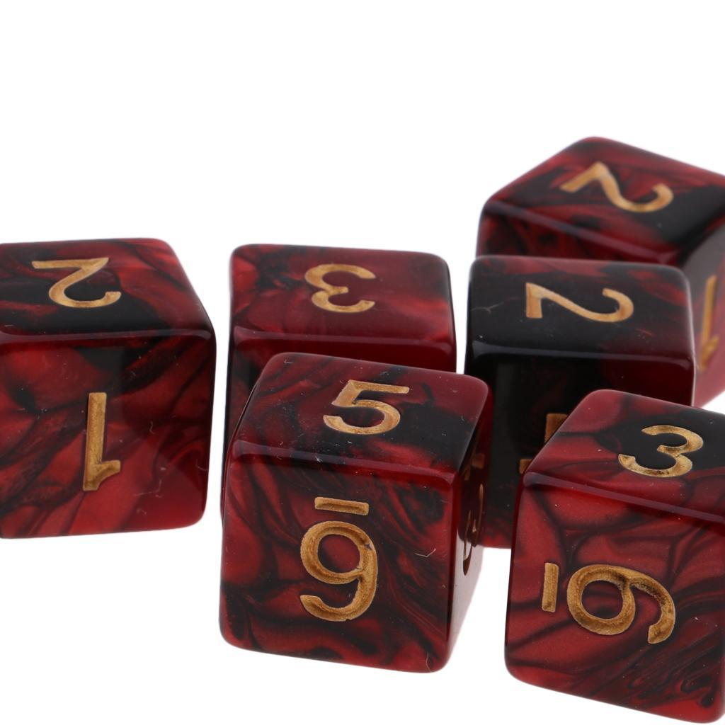 10pcs-D6-16mm-Dice-for-Friends-Family-Travel-Board-Games-Gifts thumbnail 6