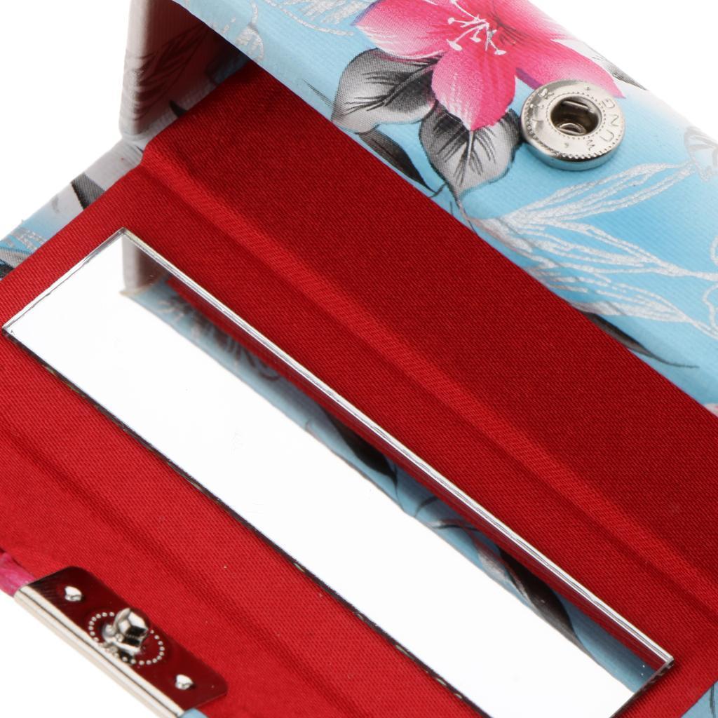 Custodia-in-pelle-per-rossetto-Borsa-per-organizer-per-borsa-Porta miniatura 11