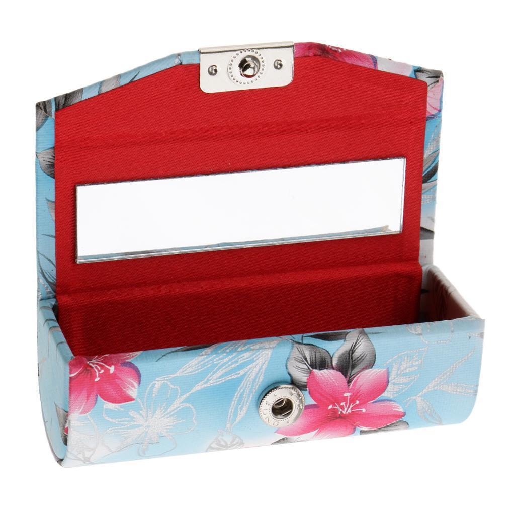 Custodia-in-pelle-per-rossetto-Borsa-per-organizer-per-borsa-Porta miniatura 13