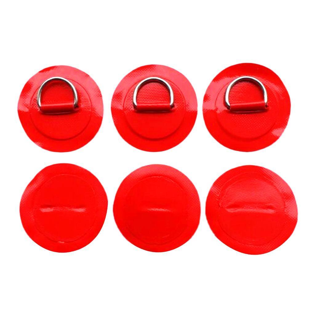 12-Pezzi-in-Acciaio-D-Ring-Pad-Patch-per-PVC-Gommone-Barca-Gonfiabile miniatura 14