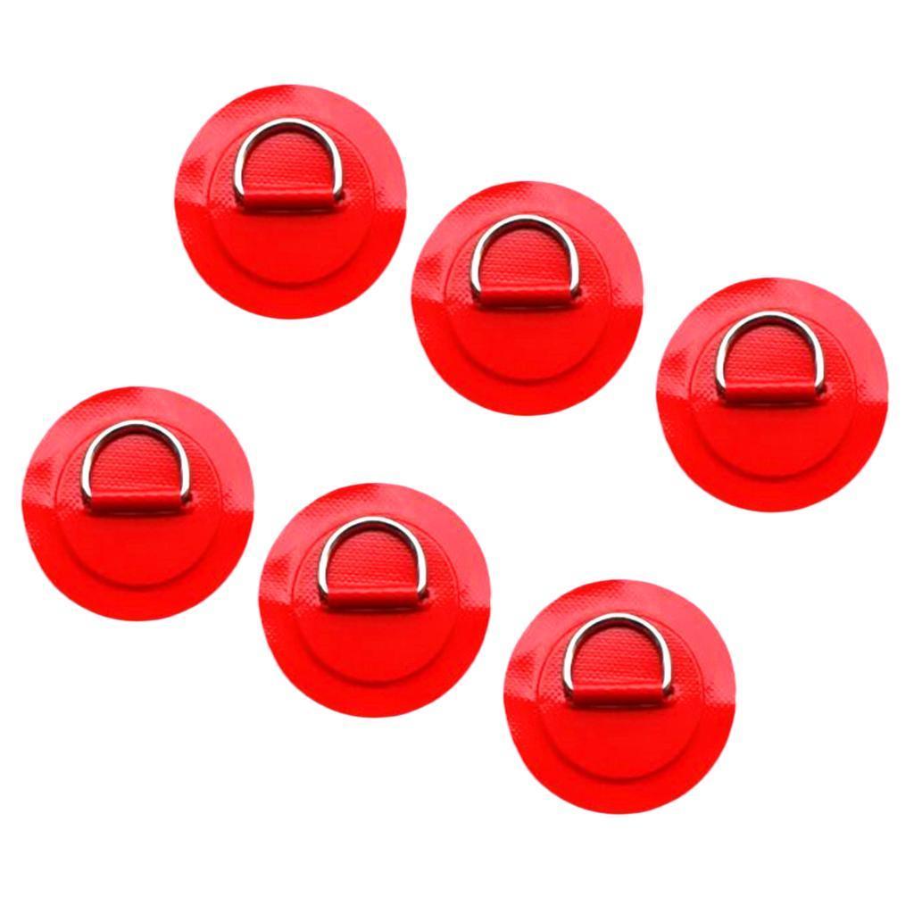 12-Pezzi-in-Acciaio-D-Ring-Pad-Patch-per-PVC-Gommone-Barca-Gonfiabile miniatura 18