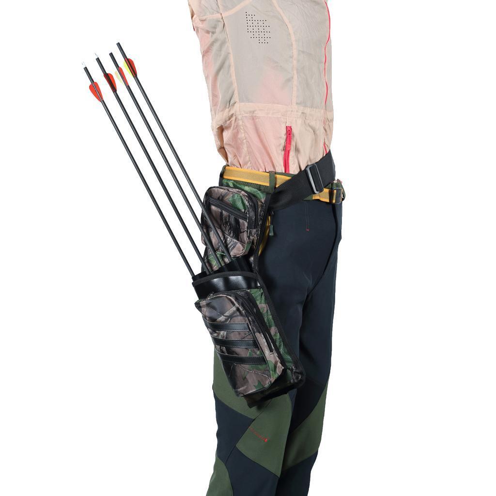 Archery-4-Tube-Camo-Arrow-Quiver-Holder-Belt-Waist-Bow-Hunting thumbnail 3