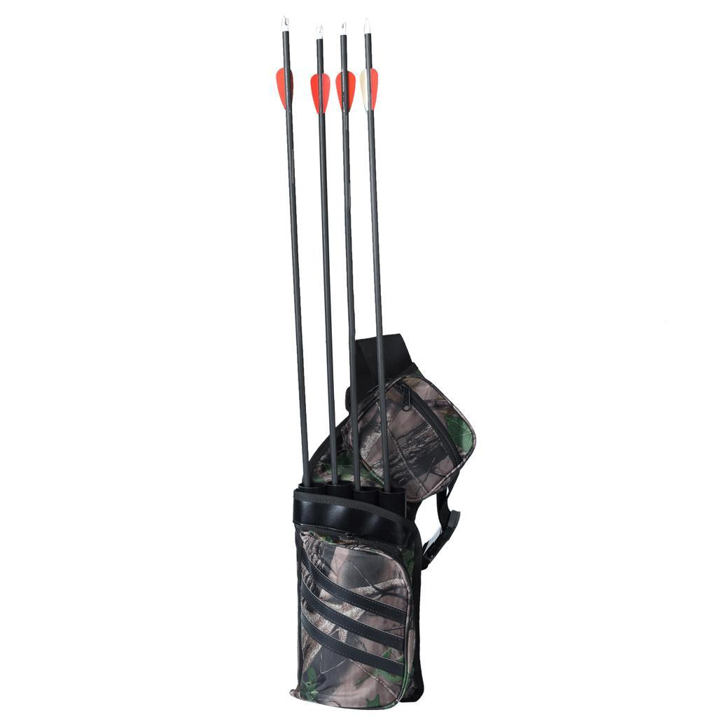 Archery-4-Tube-Camo-Arrow-Quiver-Holder-Belt-Waist-Bow-Hunting thumbnail 4