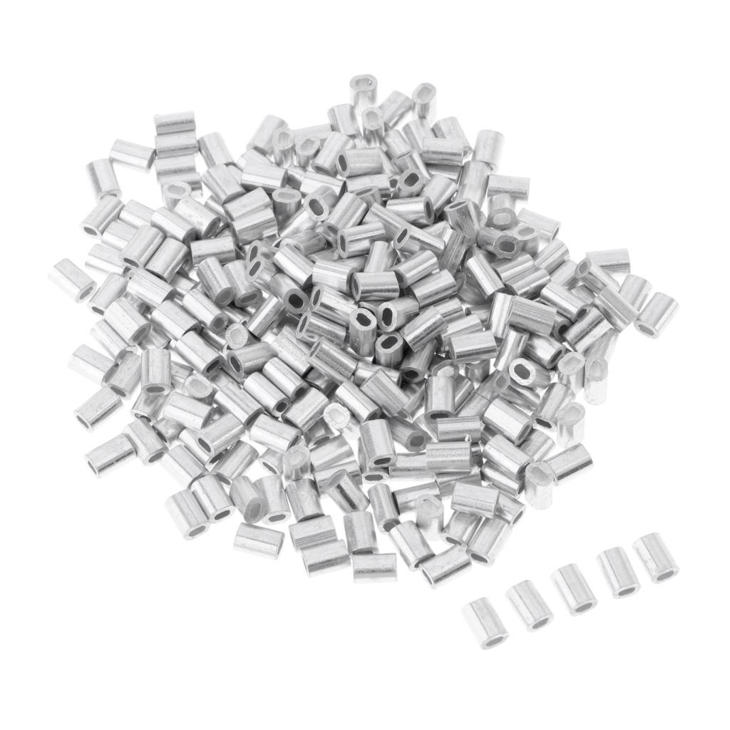 100x Quetsch-Hülsen Sicherheits Quetschhülsen Crimphülsen Klemmhülsen 0,8mm
