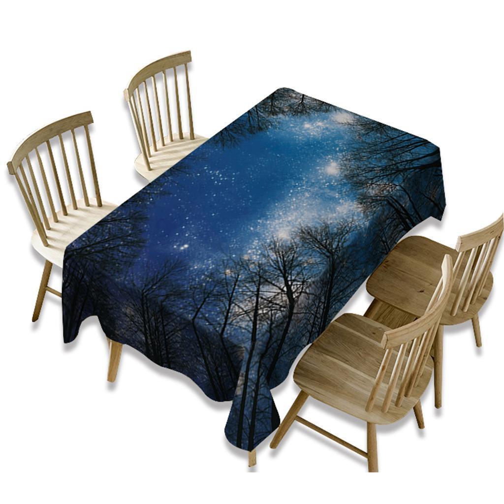 Rectangulaire-Nappe-de-Table-Couverture-Impermeable-Embellissement-de-Table miniature 21