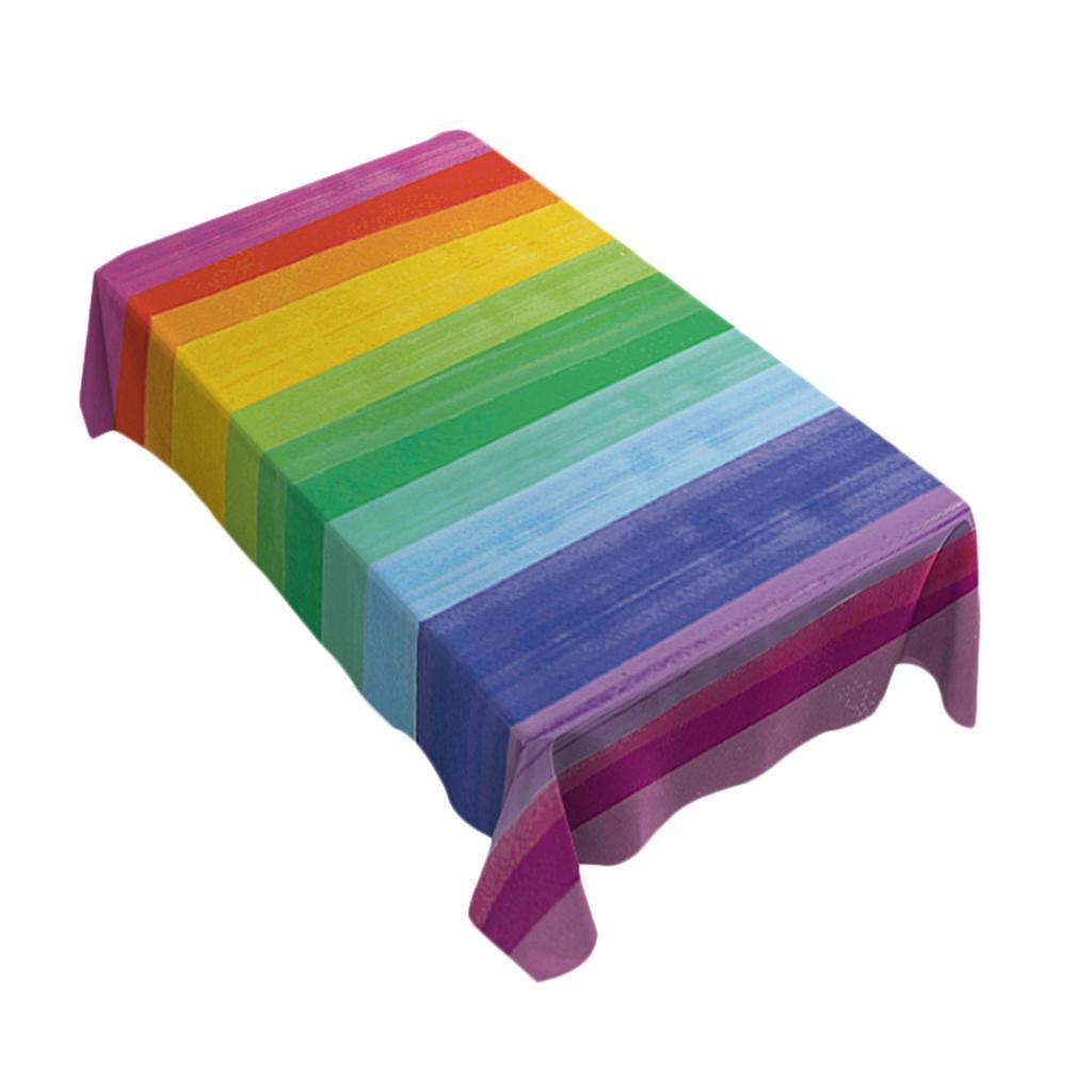 Rectangulaire-Nappe-de-Table-Couverture-Impermeable-Embellissement-de-Table miniature 32