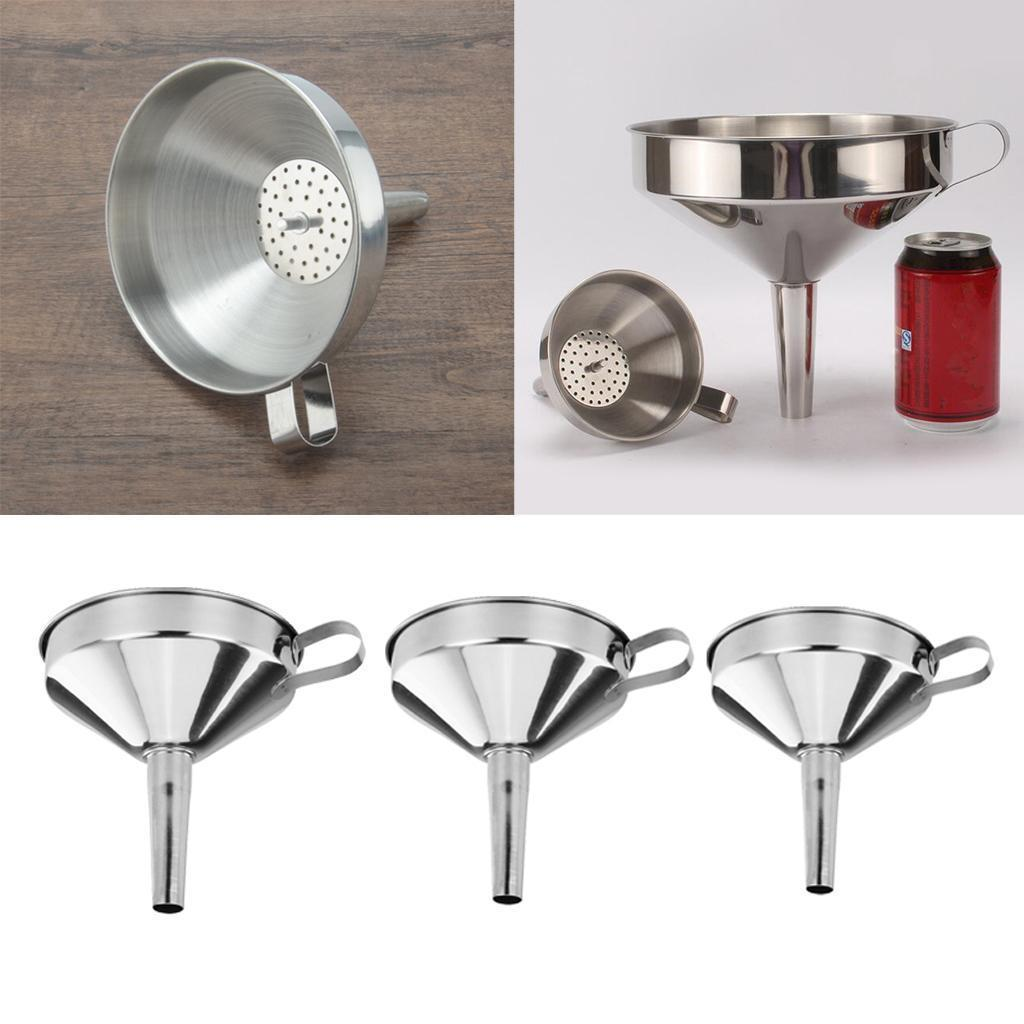 miniatura 5 - Imbuto-da-Cucina-con-Filtri-Rimovibile-per-Imbuto-In-Acciaio-Inox-con