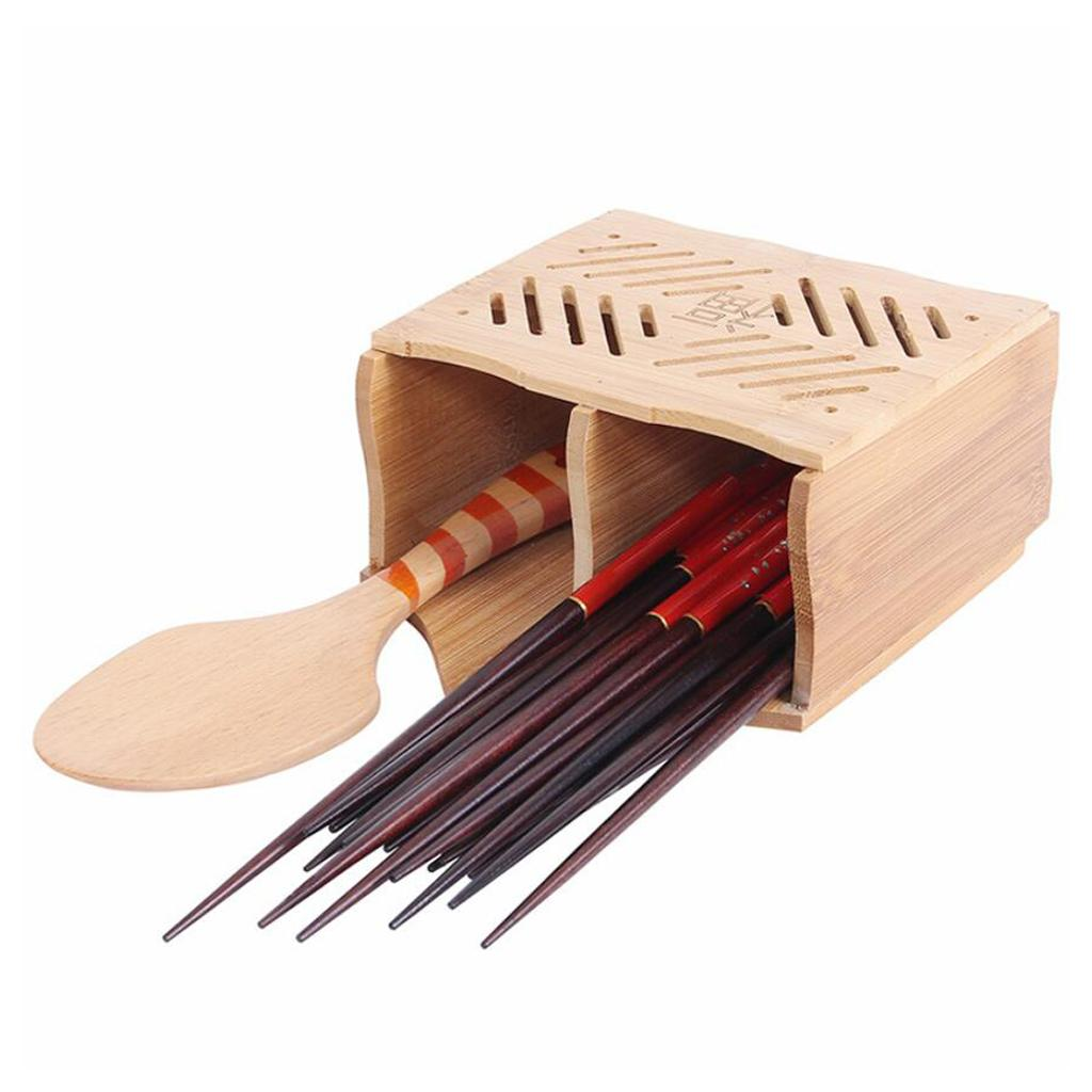 Holzerner Utensilien Kuche Besteck Halter Bambus Besteckstande Kochgeschirr Ebay