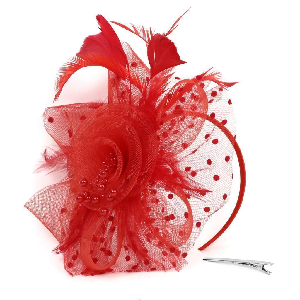 miniatura 4 - Fascia Fascinator Elegante Durevole Accessorio Capelli Per Pasqua Feste