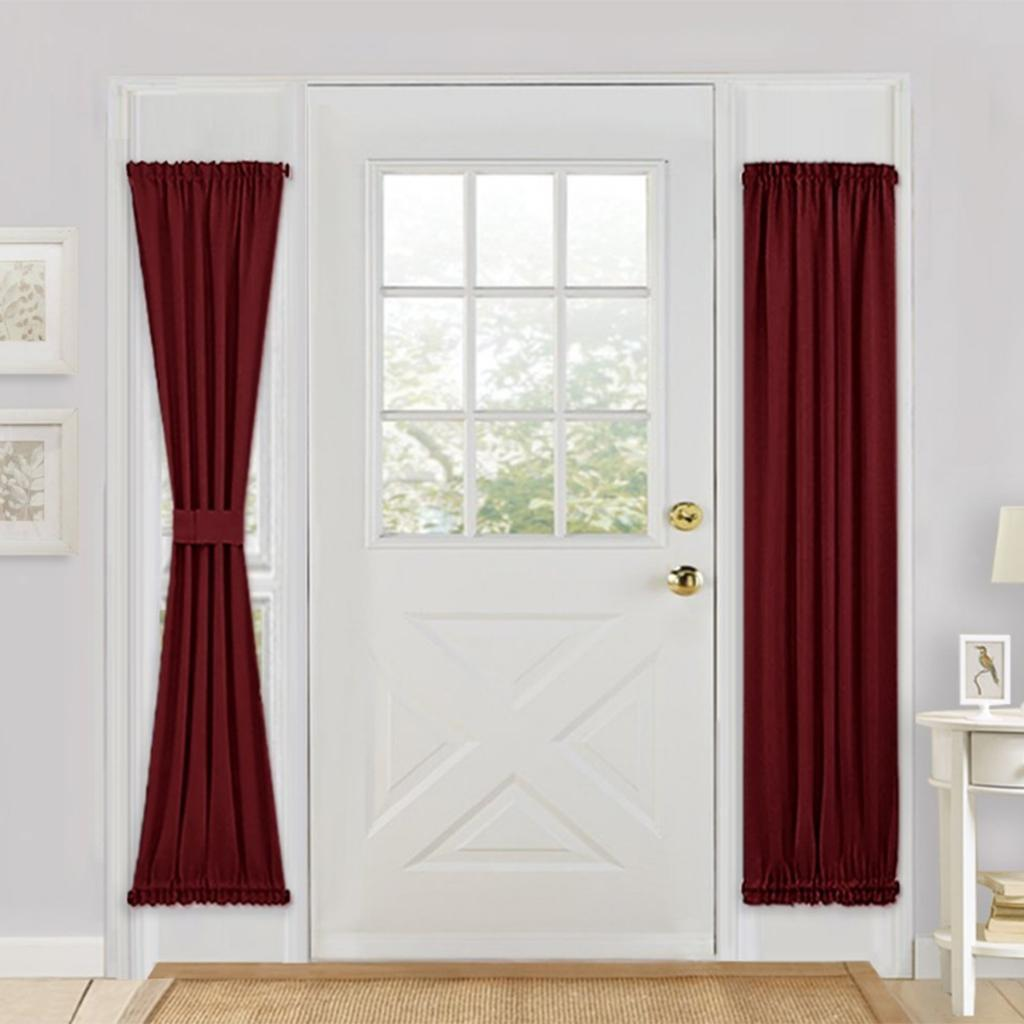 Solid-Color-Blackout-French-Door-Curtain-Panel-Rod-Pocket-Window-Treatment thumbnail 12