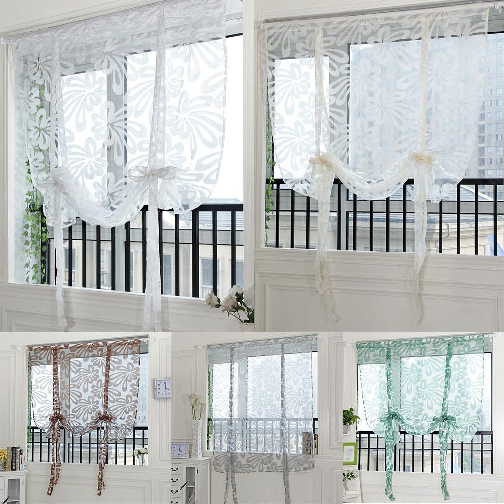 Fenetre Salle De Bain détails sur romain rideau décoration de fenêtre ,rideau plissé en tulle  salle de bain