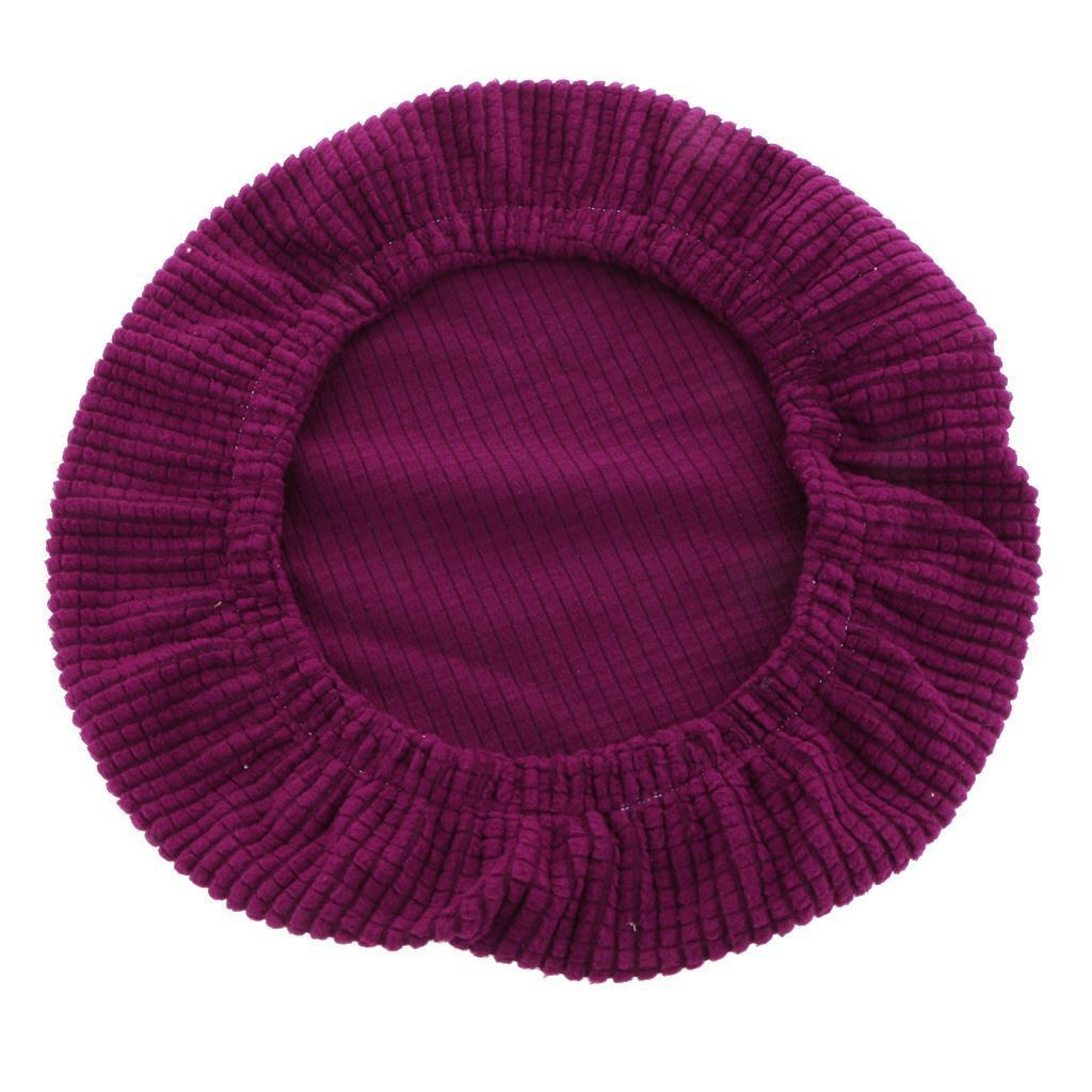 Elastic Stretchy Round Bar Stool Seat Cover Chair