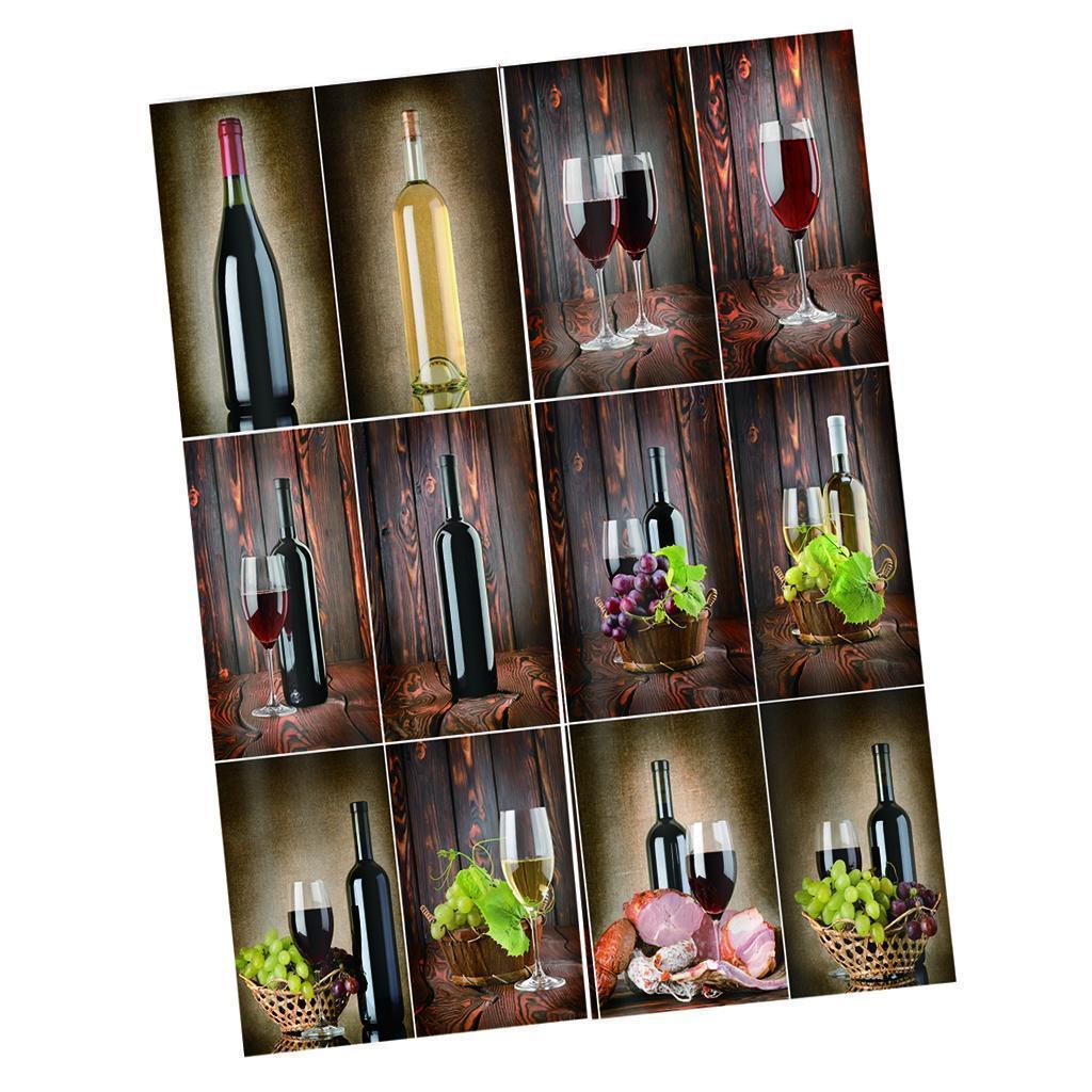 miniatura 10 - Tende per finestre decorative Stampa di bottiglie di vino, tende a ridurre