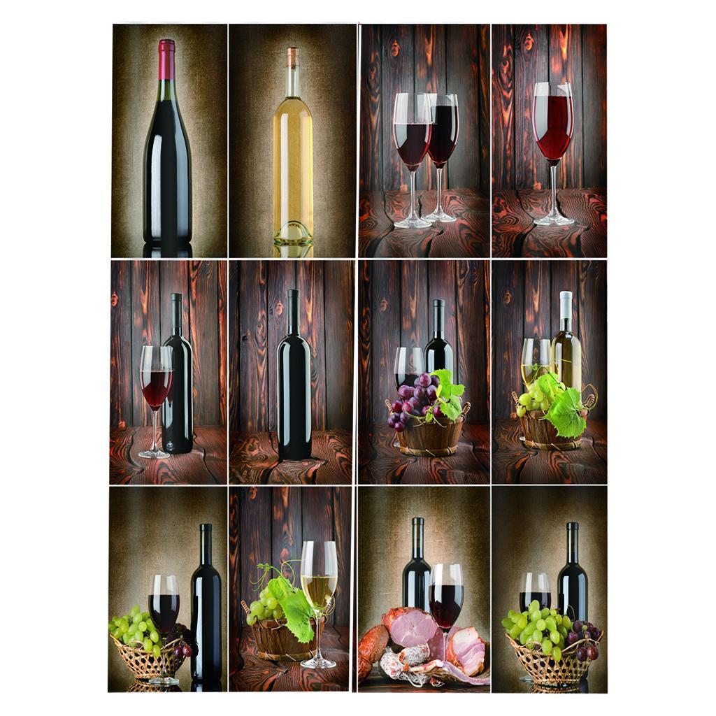 miniatura 8 - Tende per finestre decorative Stampa di bottiglie di vino, tende a ridurre