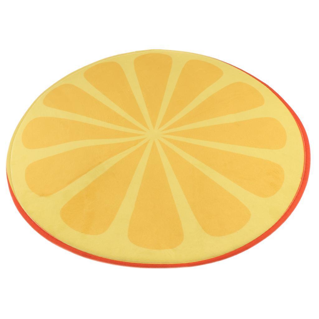 Tappeto-rotondo-porta-frutta-stampato-tappetino-antiscivolo-camera-da miniatura 3