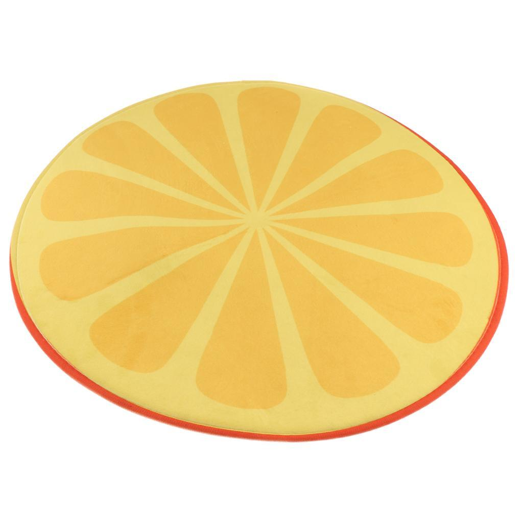 Tappeto-rotondo-porta-frutta-stampato-tappetino-antiscivolo-camera-da miniatura 4