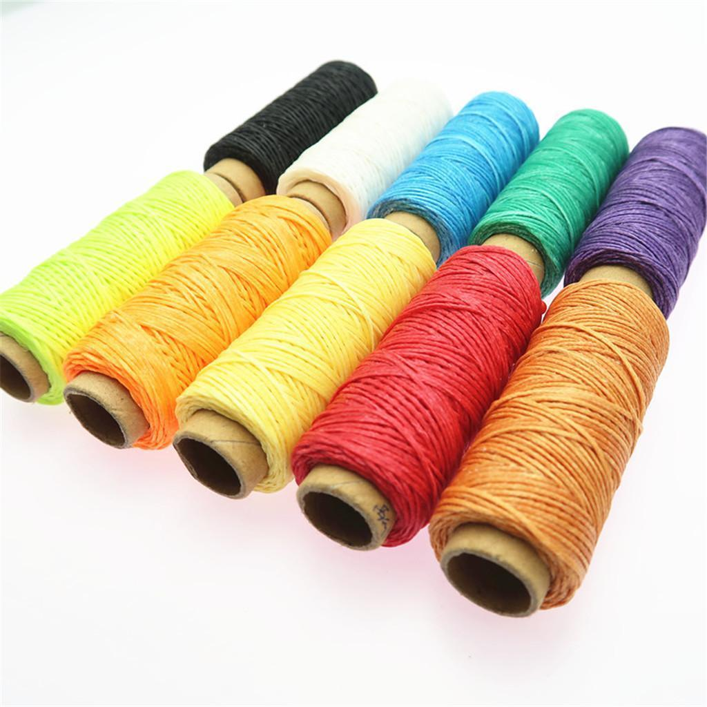 10-Pieces-Leather-Accesseory-Cotton-Wax-Thread-for-Domestic-Sewing-Machine thumbnail 13