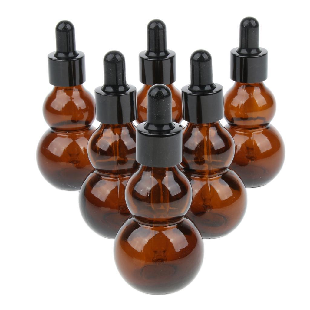 6-Pezzi-Bottiglie-Contagocce-Flacone-Olio-Essenziali-Liquido-Accessori-Vetro miniatura 16
