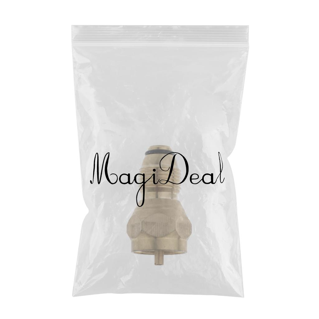 1 Pack Propane Refill Adapter Gas Cylinder Tank Coupler Heater 1lb, Brass