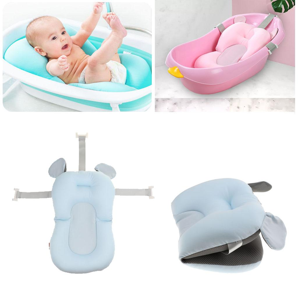 Baby Bath Pillow Padding Soft Infant Lounger Cushion for Tub Newborn Shower Pad