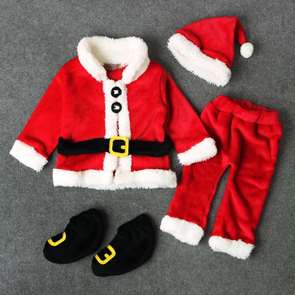 4Pc-Baby-Boy-Girl-Christmas-Santa-Claus-Costume-Top-Pants-Hat-Outfit-Clothes-Set thumbnail 12