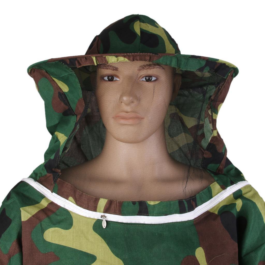 Giacca-Con-Cappello-e-Maschera-Rete-Protezione-Ape-Per-Apicoltura miniatura 27