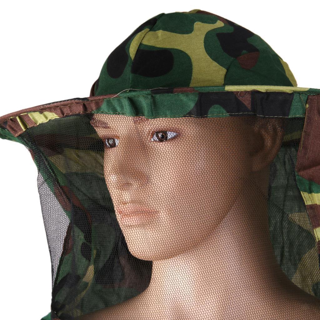 Giacca-Con-Cappello-e-Maschera-Rete-Protezione-Ape-Per-Apicoltura miniatura 28