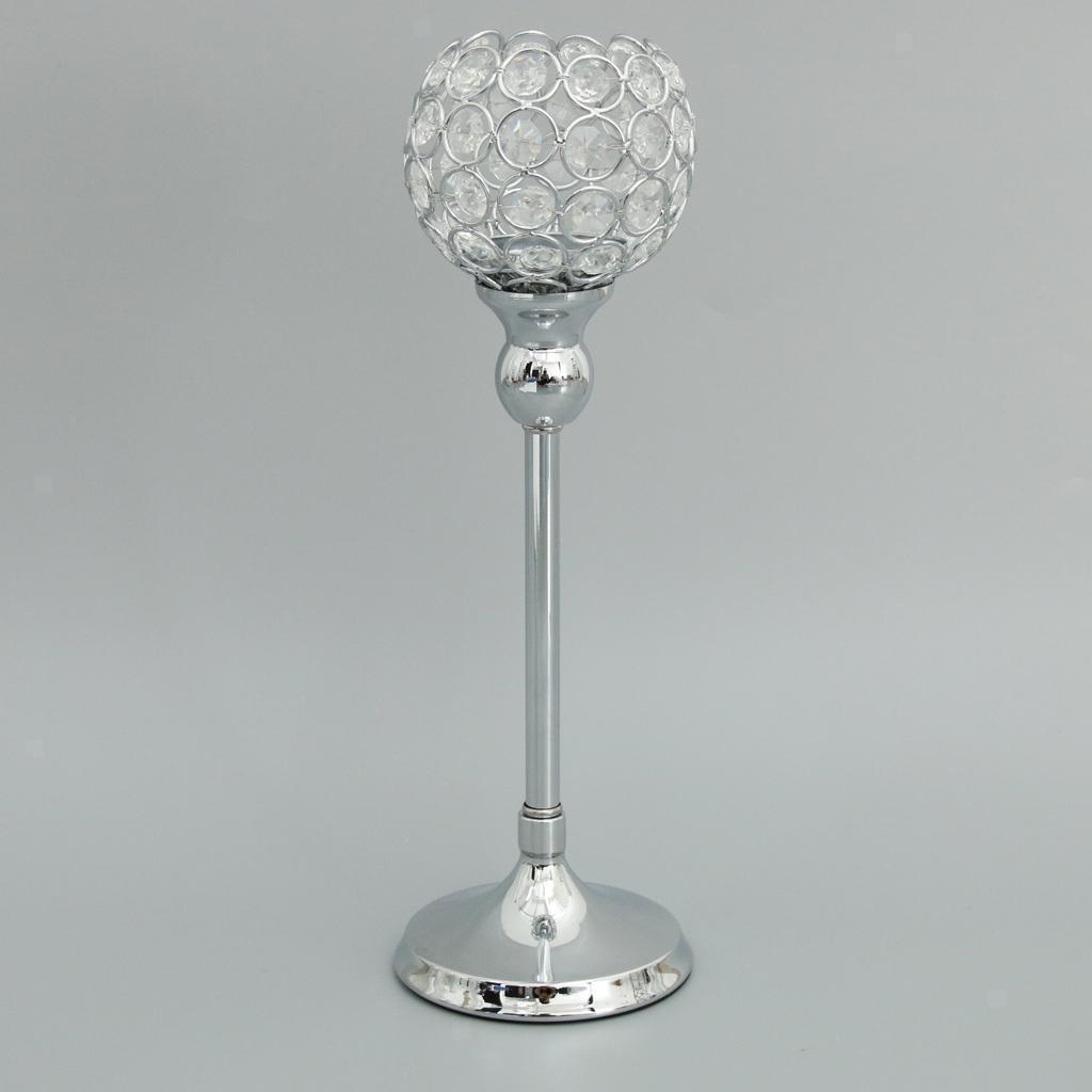 Crystal-Candle-Holder-Wedding-Banquet-Candlestick-Table-Romantic-Centerpiece thumbnail 14