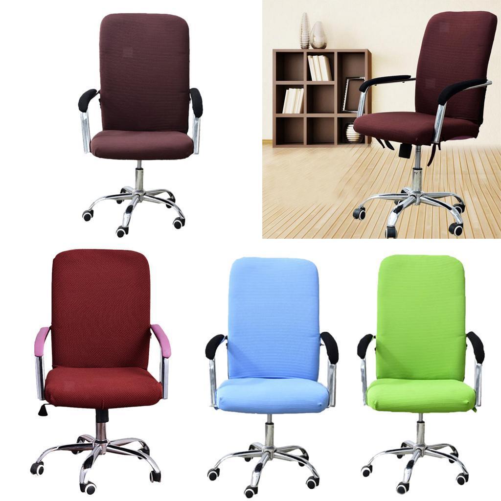 Housse-de-fauteuil-Fauteuil-de-bureau-confortable-Housse-de-siege-pivotant miniature 5