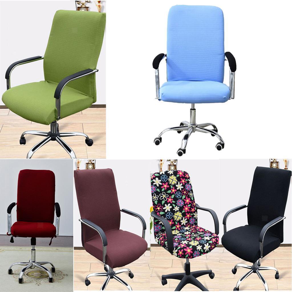 Housse-de-fauteuil-Fauteuil-de-bureau-confortable-Housse-de-siege-pivotant miniature 6